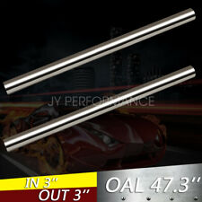 """2PCS 3"""" 76mm T304 Stainless Steel Straight Exhaust Pipe Tube Piping Tubing (4FT)"""