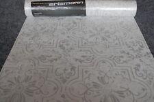 Papel de Pared Pintado 6337-31 Erismann Vintage Ornamento BLANCO GRIS CLARO