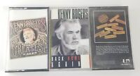 Kenny Rogers 3 Cassette Tape Lot, Greatest Hits, Back Home Again, 10 Years, GR8