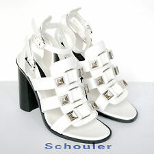 PROENZA SCHOULER $975 white high heel gladiator studded sandal shoes 40/10 NEW