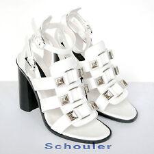 PROENZA SCHOULER $975 white high heel gladiator studded sandal shoes 40/10 NEW