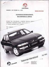 1995 HOLDEN VS STATESMAN INTERNATIONAL Press Media Release & B&W Photo