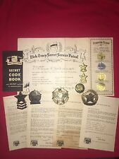 DICK TRACY QUAKER OATS SECRET SERVICE PATROL EXTREMELY SCARCE SET W/ LETTERS