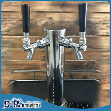 Stainless Steel Double Beer Font + Taps + Beer Line, Kegerator, Home Brewing