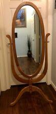 Floor Mirror Oak Color Bedroom Full Length - Free Standing