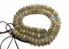"""16"""" NATURAL FLASHY Labradorite FACETED Roundel ~90 Beads 8.5mm K6117"""