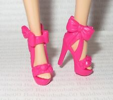 SHOES ~ MATTEL BARBIE DOLL FASHIONISTA PINK BOW ANKLE STRAP HIGH HEEL SANDALS