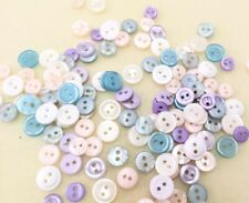 Very Pretty Delicately Coloured Buttons - Assorted Subtle Hues, Shades & Sizes