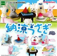 Epoch Summer Rabbit 6 Set Full Figure Mascot Gachapon Mini Capsule Toys Japan