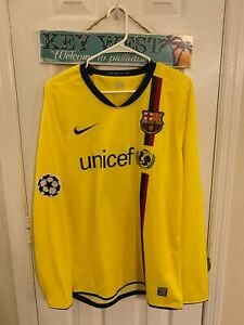 2008/09 FC Barcelona VS Basel Match worn Jersey Henry Shirt Player issue France