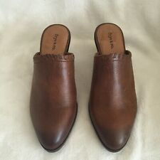 frye & co. Leather Open Back Mules - Cody, Cognac, Size 7 1/2 M, New
