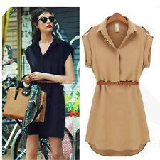 Spring Short Shirt Dresses for Women