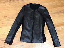 S' MAX MARA Goat Leather & Light Fitted Jacket sz Small S
