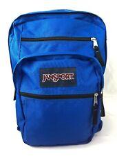 """JANSPORT Backpack Large Blue Backpack School Bag 16.5""""x7.5""""x12"""""""