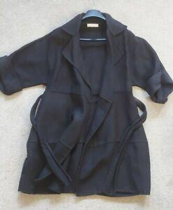 Nichol Fahri kimono style Coat belted size uk 10 Lagenlook black