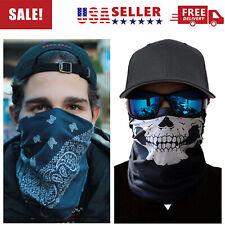 Bandana Skeleton Ghost Biker Balaclava Skull Safety Face Mask Head Wrap Scarf