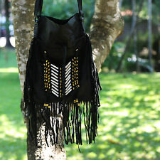 Boho Bag/ Hand Made Indian Leather Hand Bag/ Fringed Bag/ Bohemian Bag/Gypsy Bag