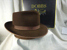 """Vintage Dobbs Explorer Fedora Hat """"Outstanding Hat""""  Mink Color With Box Size 7"""
