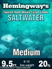Hemingway's Furled Saltwater Leader Medium 9.5ft 20lb