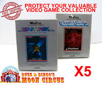 5x VECTREX CIB GAME - CLEAR PLASTIC PROTECTIVE BOX PROTECTOR SLEEVE CASE