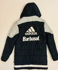 Columbus Crew S.C. Barbasol Team Adidas Small Long Poly Filled Jacket w/ Hood