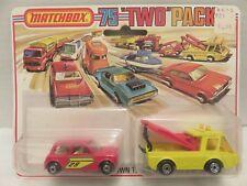 1976 Matchbox Two Packs Breakdown Truck Austin Mini TP-6 Die-Cast Metal
