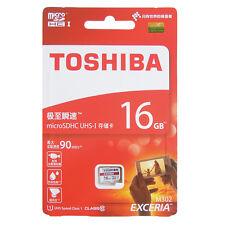 Toshiba 16GB Exceria Micro SD SDHC 90MB/s CLASS 10 UHS-I M302 Mobile Memory Card