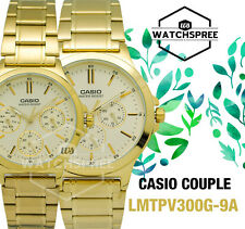 Casio Couple Watch LTPV300G-9A MTPV300G-9A