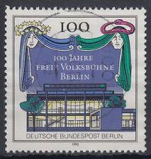 Berlin Germany 1990 Θ Mi.866 Theater Freie Volksbühne Vorhang [blg031]