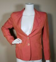 Etro Milano Women's Button Up Lined Blazer Jacket in Orange Size 42/US 8