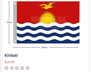 Kiribati Flag 900mm×1500mm LARGE BRAND NEW FREE SHIPPING AUS WIDE GOOD QUALITY
