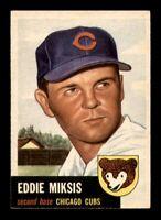 1953 Topps Set Break #39 Eddie Miksis EX-MINT *OBGcards*