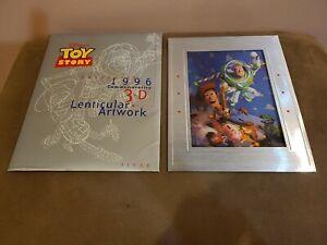 Disney / Pixar Toy Story Woody & Buzz 1996 commemorative 3D lenticular artwork
