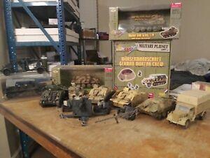 21st century toys 1/32 Huge Lot - Sherman, 2 StuG, 3 Pak 40's, 2 Flak 88, n More
