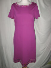 BNWT M&S £49.50 SIZE 12 LADIES MAGENTA COLOURED SMART FORMAL TUNIC DRESS - LINED