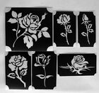 bm2017 seta roses GLITTERTATTOO 12 stencil of different roses glitter tattoo