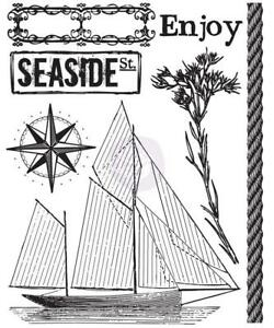 Prima Marketing SEASHORE #1 Clear Stamps 2.5 x 3 Ship 7pc Mixed Media 572594