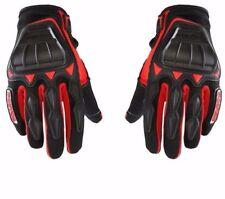 Auto Hub Leatherette Scoyco Biker's Riding Gloves - (Large, Red)(MC08)