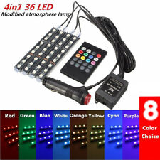 4 x 12LED Car Interior Light Amosphere SUV Floor Strip Lamp Music Remote Control
