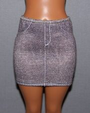 Barbie Doll Clothes Fashionista Evolution Curvy Gray Knit Skirt