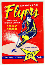 HTF 1957-58 Edmonton Flyers WHL Hockey Program vs. Vancouver Canucks