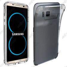 Housse Etui Coque Silicone Coins Rebords Renforcés Transparent Samsung Galaxy S8