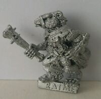 Classic SKAVEN Ratmen Clan Rat with Club age of sigmar AOS GW1985 Scarce OOP