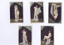 A Set of 5 Risque/Erotic postcards - French Circa WW1