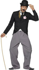1920s Charlie Chaplin Style Star Outfit Mens 20s Fancy Dress Costume Medium