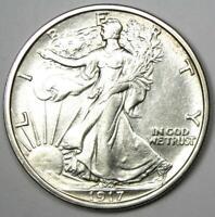1917-S Walking Liberty Half Dollar 50C (Reverse) - Choice AU / UNC MS Details