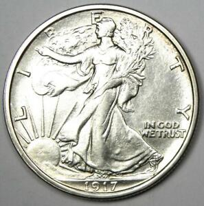 1917-S Walking Liberty Half Dollar 50C (Reverse) - Choice AU / UNC MS Details