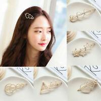 2019 Fashion Women Pearl Hair Clip Snap Barrette Stick Hairpin Hair Accessories