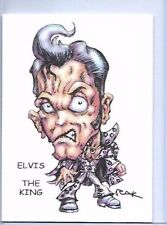 ELVIS THE KING ** TRADING CARD ART SIGNED by RAK ** NEAR MINT ** SEE MY STORE