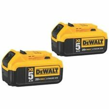 DEWALT DCB205-2 20V MAX Lithium Ion Battery Pack of 2